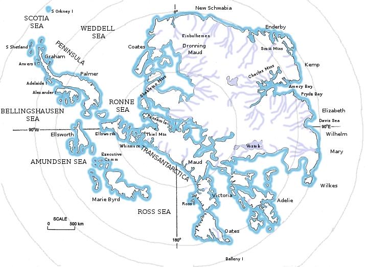 antarctic map   my pirate novel